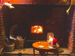 Cosy romantic nights in front of the fire