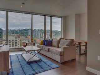 Upscale condo w/ gorgeous city views & prime downtown location! Dogs ok!, Portland