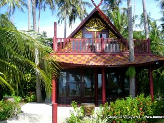 Beachfront Holiday Villa for Rent: Coconut Village A1