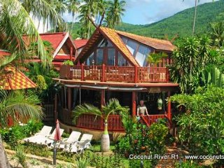 Beachfront Holiday Villa for Rent: Coconut River R1, Ko Samui