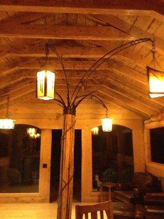 Hilltop House Main Cottage Lights Designed and Crafted by Master Blacksmith Duran Van Dorn