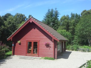Springburn log cabins Kestrel, Elgin