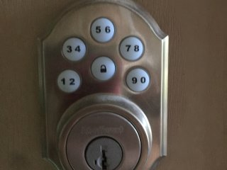 We offer a keyless entry.