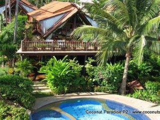 Holiday Villa for Rent: Coconut Paradise P2 Spacious Beachside Rental, Ko Samui