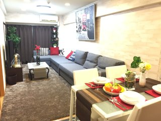 Shinjuku1minWalk 2BR+1LRFamilySize Modern FREEWIFI