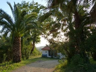 Quaint 2 bed Cottage with views to the Ionian Sea, Zacharo