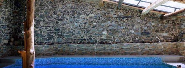 Chorros de agua de la piscina