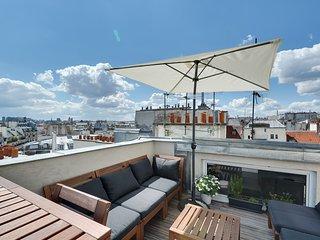Loft 100 m2 avec le toit panoramique centre de Paris, Parijs