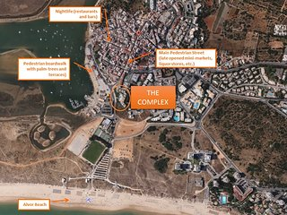 Aerial view of the complex in Alvor