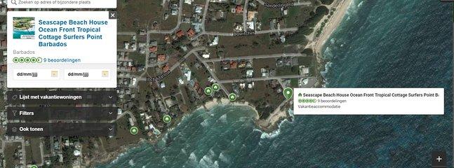 Seascape Beachhouse ranking on Tripadvisor