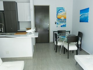 NUEVA cabaña de la playa, del sueño 4, 1 dormitorio, 1 bano, 1 parque, Isla Verde