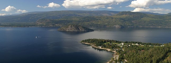 Shuswap lake and copper island
