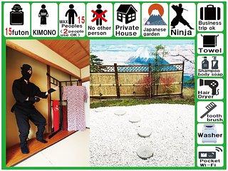 Osaka/80㎡/umeda1sta./namba5sta./wifi/Private House