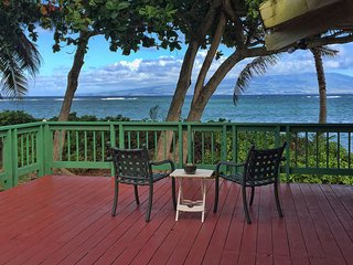 Sit on the deck and stare at Maui