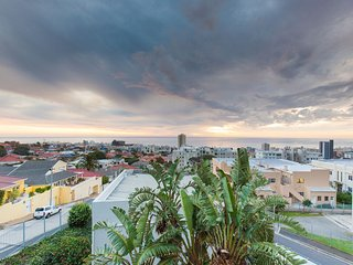 Panoramic sea view of Sea Point and mountainscape, Cape Town Central
