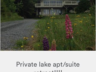 Private lake apt/suite retreat