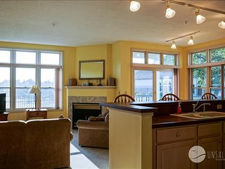 This 'Poolside Retreat' has great views of the harbor and pool., Manistee