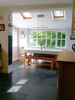 Large kitchen with dining area additional to main dining room