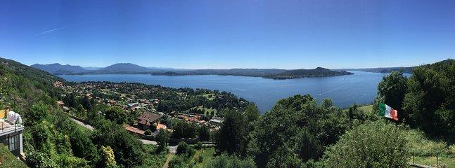 Vista del Lago Maggiore dalla terrazza