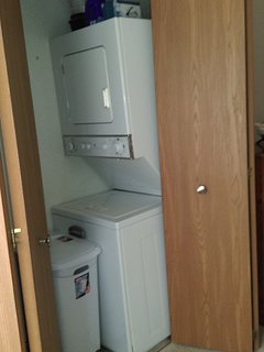 Washer and dryer in bedroom