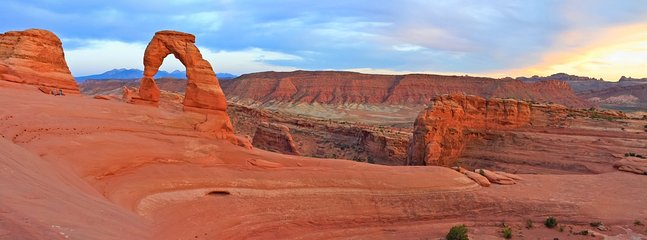 Delicate Arch in Arches National Park, 10 minute drive from Y-4.