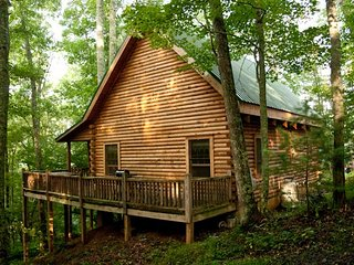 Secluded Log Cabin on organic farm, trout stream, Grassy Creek