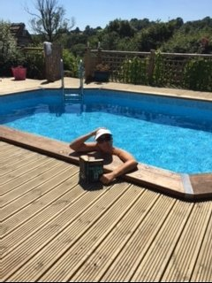Shared heated pool