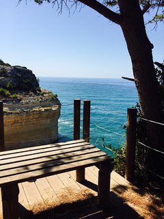 take a halfway rest on the clifftop walk to take in the view...