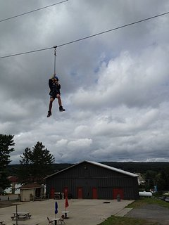 Zip lining for all ages up at Wisp