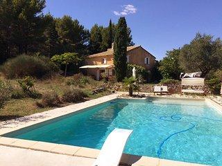 Superbe mas 150m2, au calme, vue, piscine, Le Barroux