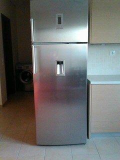 New, big refrigerator.