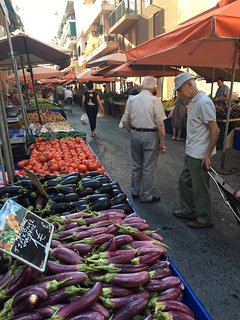 Fresh seasonal produce at the farmers market.