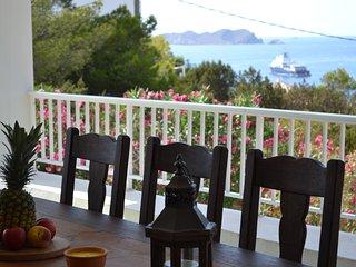 Villa con vistas al mar en Cala Tarida