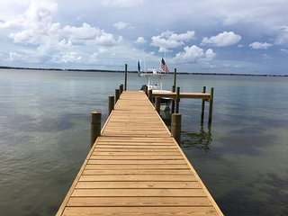 Soundfront Living on Pensacola Beach-Private Dock
