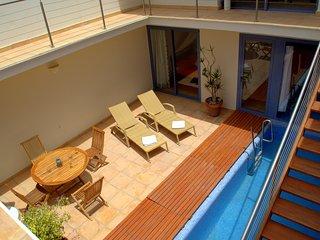 Villa Rosa, lujo junto a la playa, piscina privada