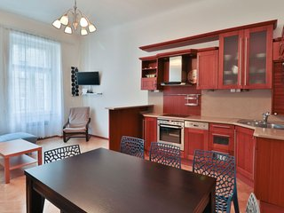 Wenzigova apartment in Vinohrady with WiFi & lift.