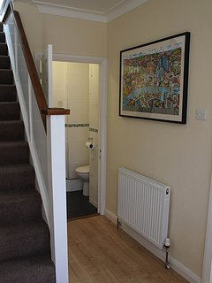 Hallway Therough To Downstairs Bathroom