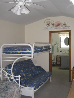 Room with Bunkbed- Double on the bottom and twin on top, plus two more twins.