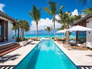 Modern Designer Turks and Caicos Luxury Beachfront Villa with Pool, Grace Bay