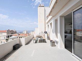 Bel appartement Terrasse vue mer, Marselha