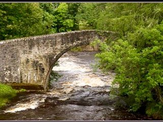 The 300 year old Poldullie Bridge, across from the cottage.