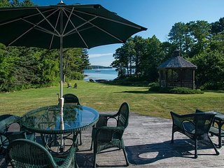 Waterfront Colonial Home in East Boothbay with Gazebo and Water Access