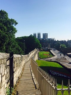 York walls a beautiful walk less that 3 min walk from house