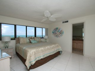 Master bedroom.  Notice the ocean view.
