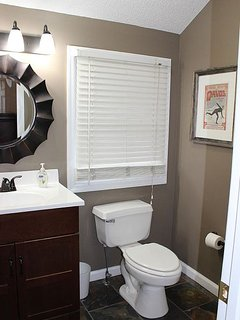 Wash your day away in this bathroom.