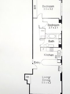 Floor plan of CBD Little Paris in the heart of Melbourne's shopping, restaurant and cafe districts