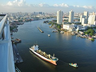River front condominium in bangkok