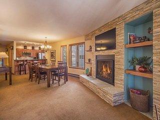 Ski Run Condominiums 201 - Walk to slopes, ski area views, new tile, pool!