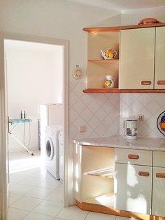 Kitchen towards laundry room