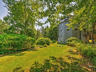 """""""Dragonwood Castle"""" - Whimsical 3BR Prospect Harbor Home on 6.7 Private Acres w/200 Feet of Water Frontage & Sweeping Views"""